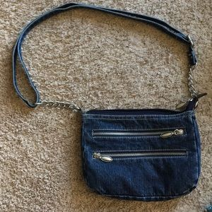 Handbags - Cute Denim Purse New Without Tags